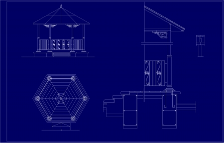 comp: architectural sketch of the Music Pavilion
