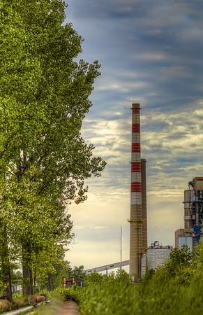 Thermal power plant Stock Photo - 19604710