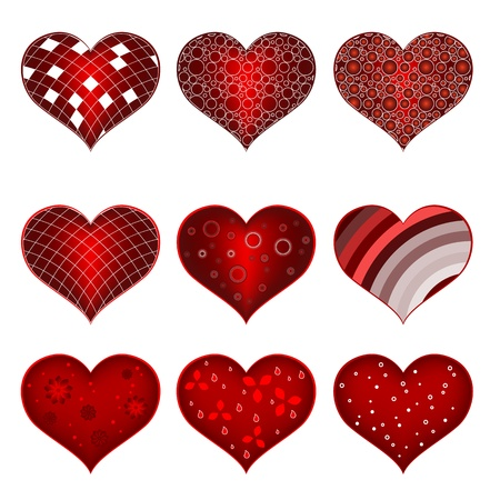 Set of symbol heart Stock Vector - 19604688