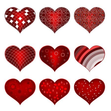 Set of symbol heart Stock Vector - 19604688