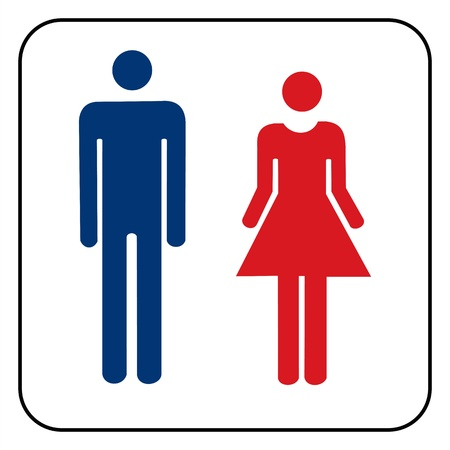 nude man: Male and female sign vector  Illustration