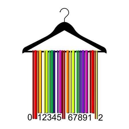 colorful barcode clothes hanger