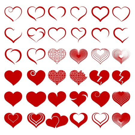 Set of symbol heart Stock Vector - 19749096