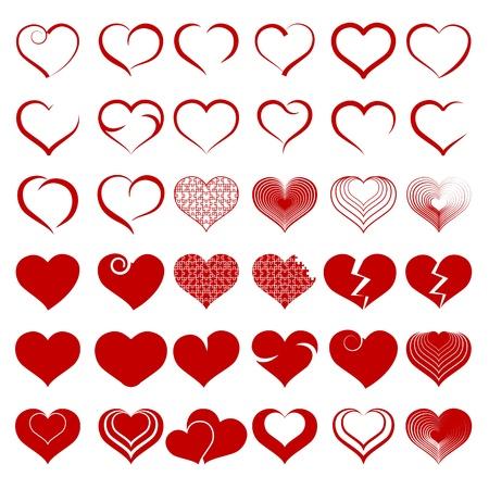 Set Symbol Herz Vektorgrafik
