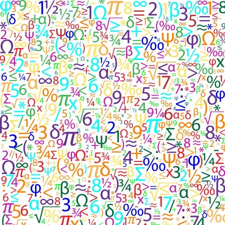 Colorful background with numbers, vector Stock Vector - 19749046