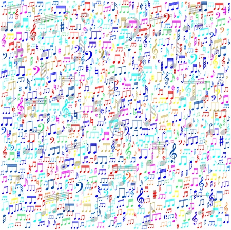 Colorful musical background Stock Vector - 19749165
