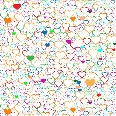 Colorful Valentine Stock Vector - 19749186