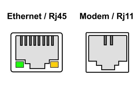 Internet ports Stock Vector - 19748925