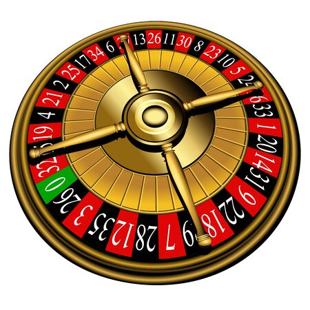 casino roulette: Roulette wheel Illustration
