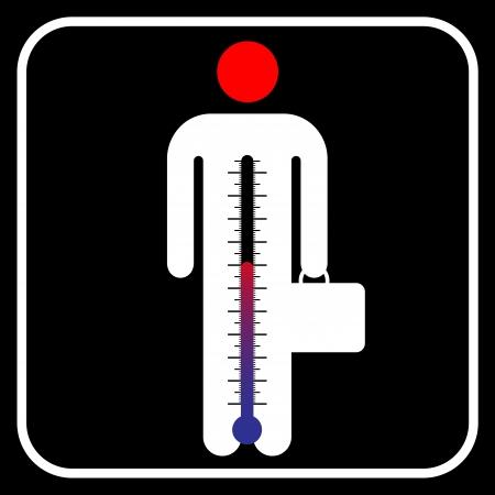 high pressure: symbol business man under stress