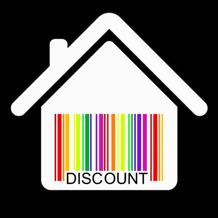 discount  HOUSE BARCODE  Vector