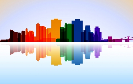Colorful City Manhattan panorama