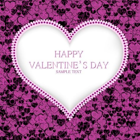 Valentines day card background Stock Vector - 19749212