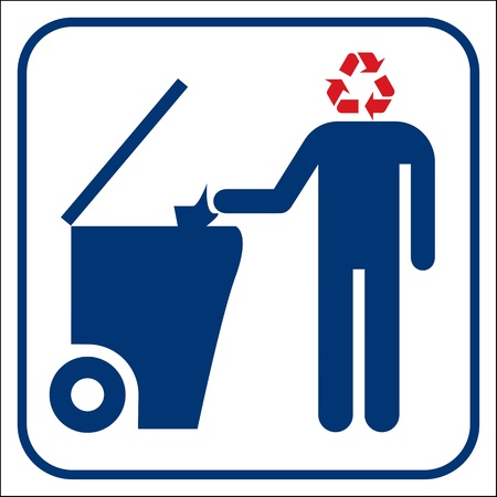 Recycling symbol Stock Vector - 19749003