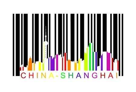chana shangai barcode Illustration