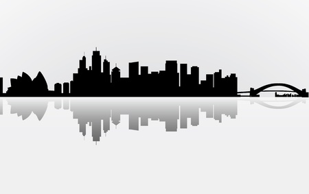 City Manhattan panorama Vector