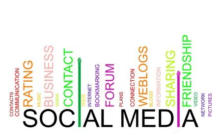 SOCIAL MEDIA text bar-code Stock Vector - 19776101