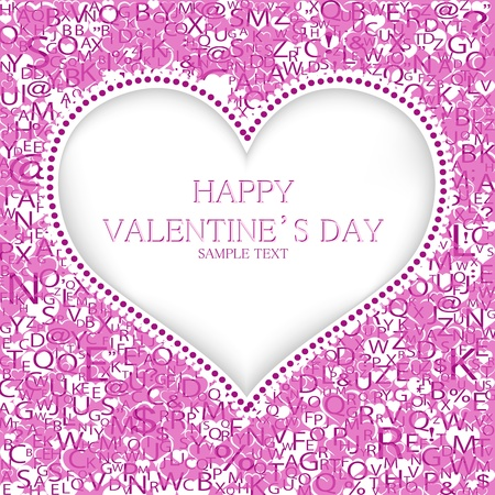 Valentines day card background Stock Vector - 19776217