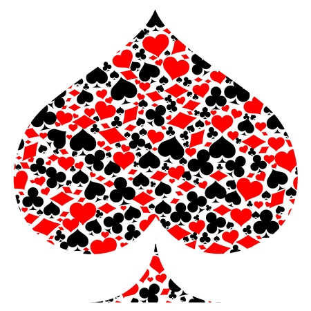 solitaire: Spades with game card symbols