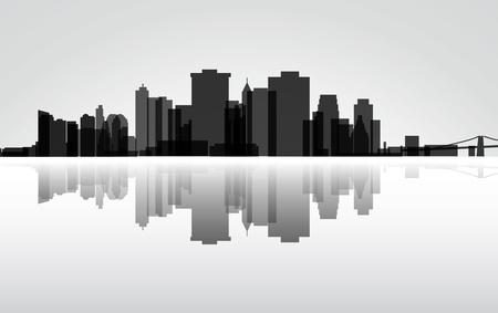 City Manhattan panorama Vector