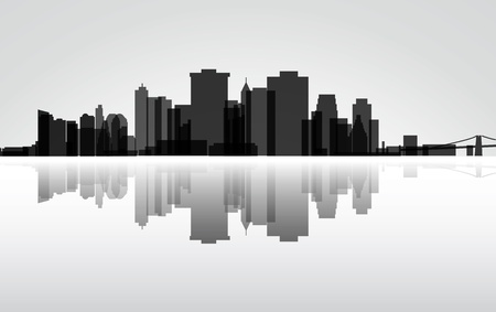 down town: City Manhattan panorama