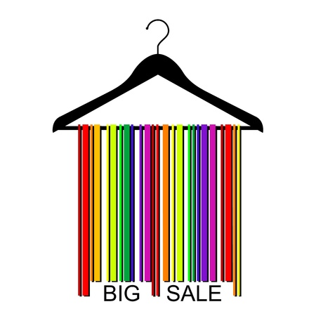 colorful BIG SALE barcode clothes hanger Stock Vector - 19775895