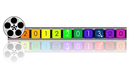 colorful 2013 year Film countdown Stock Vector - 19776137