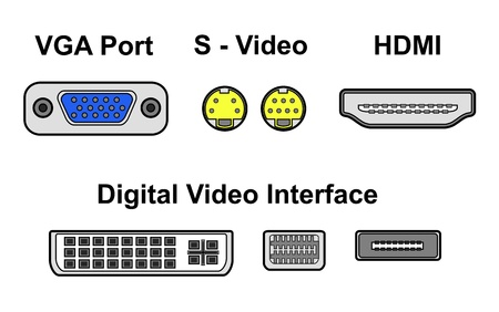 video ports Stock Vector - 19776097