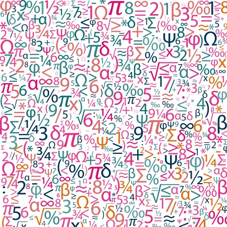 Colorful background with numbers Stock Vector - 19776127