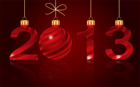 xmax: elegant New Year 2013  background Illustration