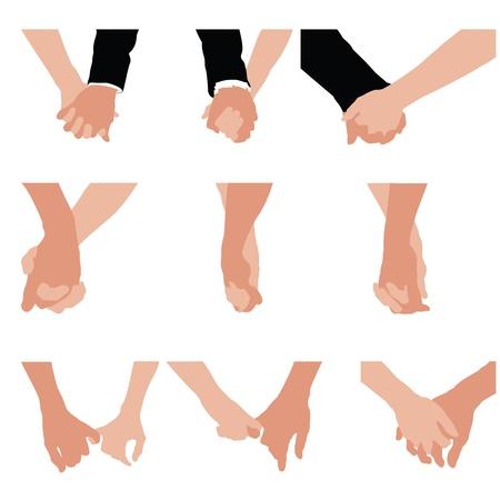hombres maduros: pareja cogidos de la mano