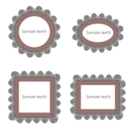 crocket: frame border with Lace