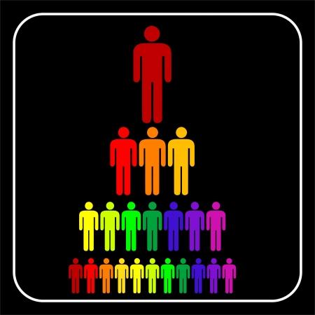 corporate hierarchy: colorato organizzativa gerarchia uomo business aziendale Vettoriali