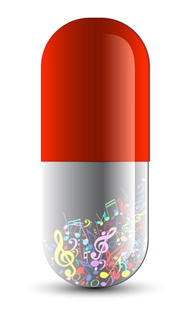 Music as medicine drug Illustration