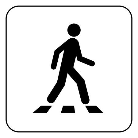 zebra crossing: S�mbolo de peatones Vectores