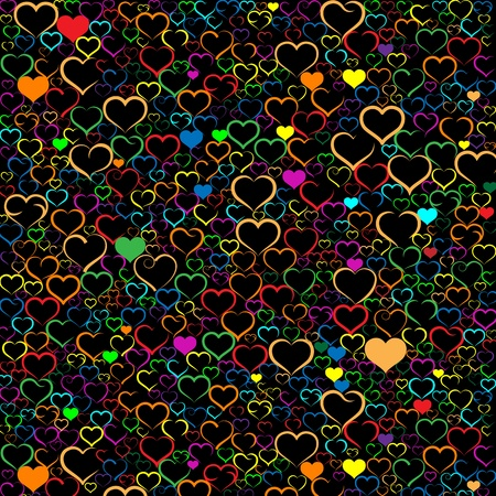 Colorful Valentine's day background with hearts Stock Vector - 19776633
