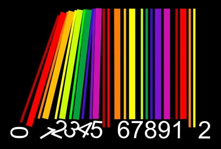 colorful bar code Stock Vector - 19776332