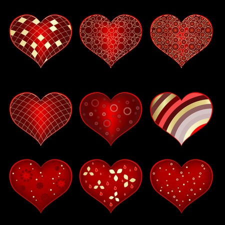 Set of symbol heart Stock Vector - 19776602