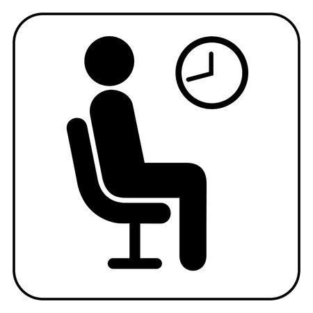 Símbolo de espera Ilustración de vector