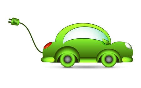 electro world: eco electrical car Illustration