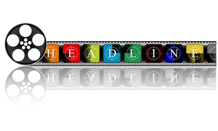 colorful Media  Electronic HEADLINE Stock Vector - 19776609