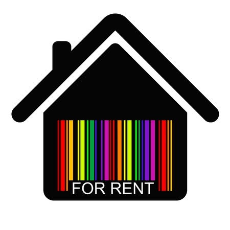 for rent HOUSE BARCODE Vector