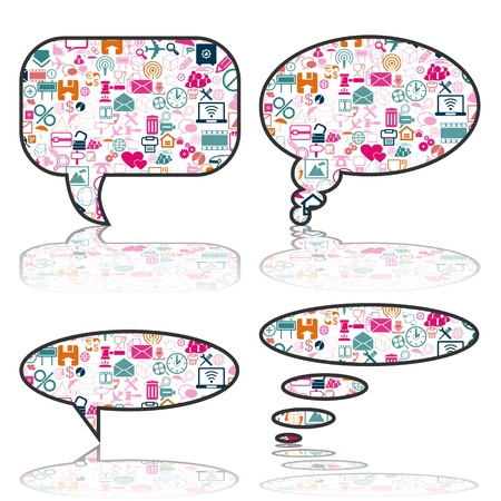 Social Media, communication bubbles in the global computer networks Stock Vector - 19776616