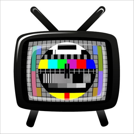 tv - color test pattern - test card Stock Vector - 19917836