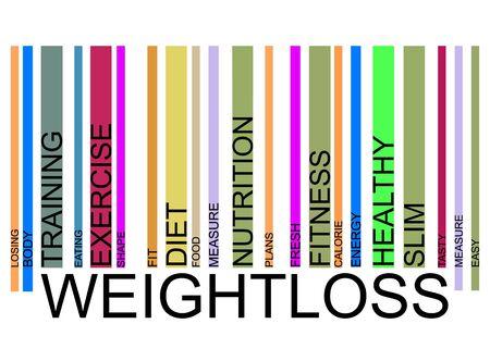 weightloss  text barcode Illustration