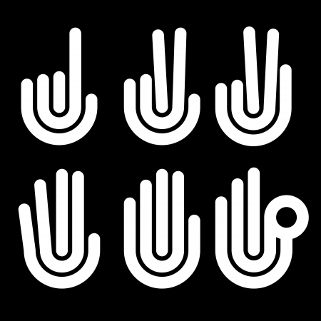 hand gestures counting symbols from 1 to 5 Vector
