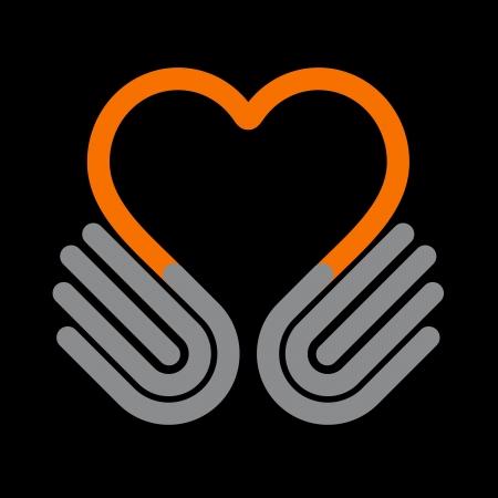 Hands heart, symbol