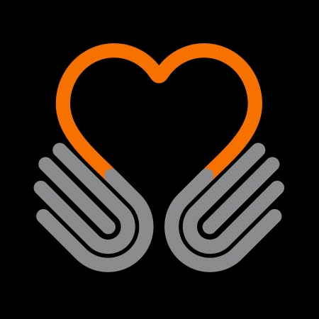 Hände Herz, Symbol Standard-Bild - 19917834