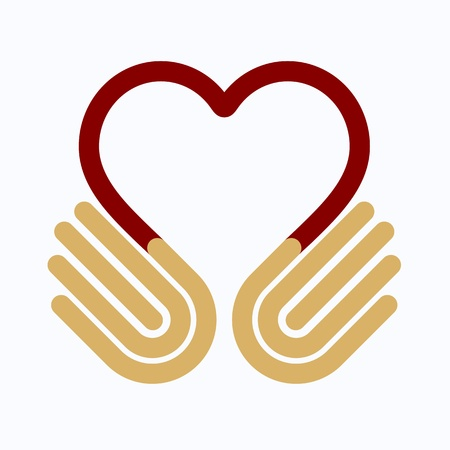 Hands heart, symbol Vector