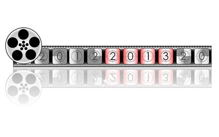 2013 year Film countdown  Stock Vector - 19917905